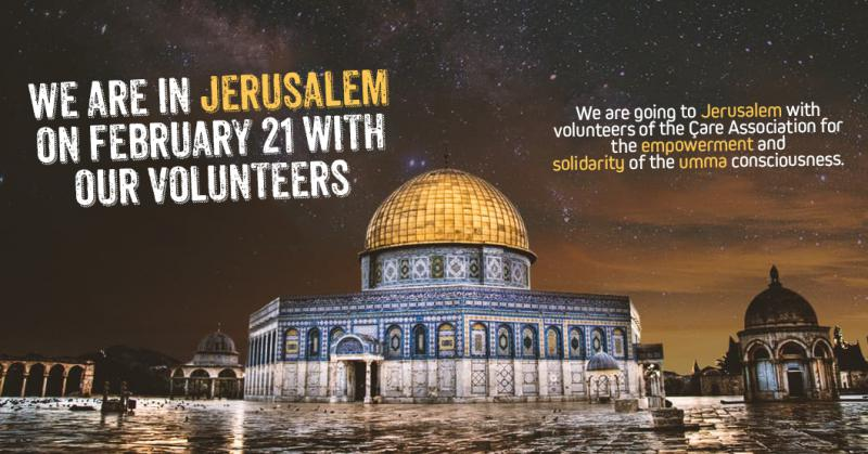 We are going to Jerusalem with our volunteers.
