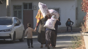 Flour, Food Package Aid and Cash Assistance to Families in Elazig