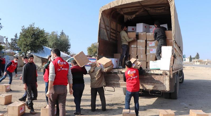 We have sent 7 trucks loaded aid to Azez